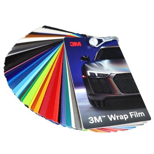 3M WRAP FILM SAMPLE SWATCH 1080 2080 8900